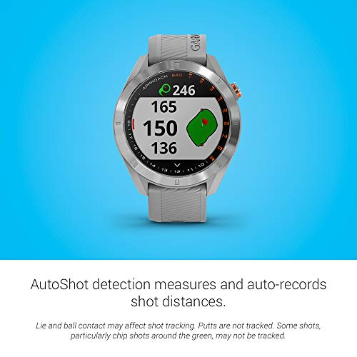 Garmin Approach S40, Stylish GPS Golf Smartwatch, Lightweight With Touchscreen Display, Gray/Stainless Steel