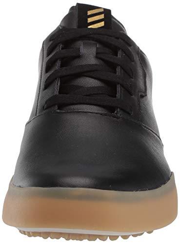 adidas mens Adicross Retro Golf Shoe, Core Black/Gold Metallic/Gum, 10.5 US