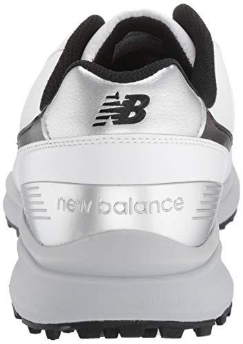 New Balance Men's Sweeper Waterproof Spiked Comfort Golf Shoe, White/Black, 12 4E 4E US
