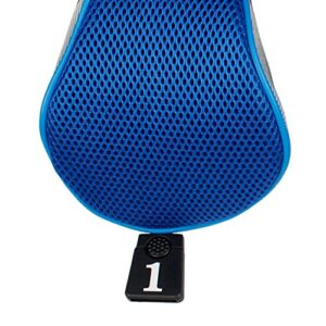 Andux Golf 460cc Driver Wood Head Covers with Long Neck and Interchangeable No. Tags Pack of 5 (Blue, MT/MG35)