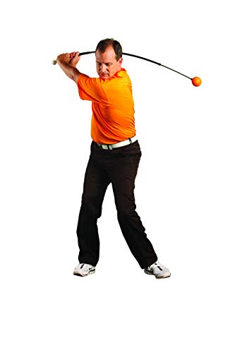 Orange Whip Full-Sized Golf Swing Trainer Aid – for Improved Rhythm, Flexibility, Balance, Tempo, and Strength – 47""