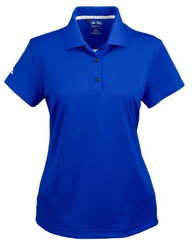 adidas Golf Ladies ClimaLite Pique Short-Sleeve Polo – Collegiate Royal A131 M