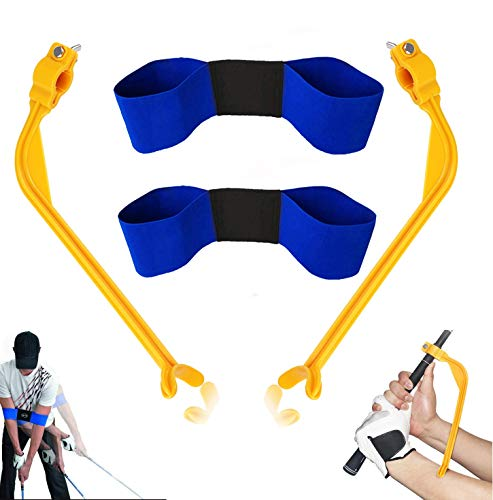 Golf Swing Training Aids, 4 Pack Golf Swing Correcting Tool and Swing Training Aid Arm Band, Unisex Golf Posture Motion Correction Trainer for Beginner and Kid to Forming The Correct Muscle Memory