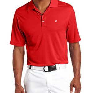 IZOD Men's Performance Golf Grid Polo, Polished Red, Large