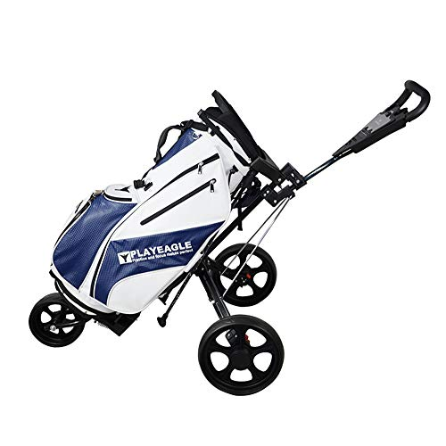 PLAYEAGLE Golf Trolley 3 Wheel Golf Push Cart Durable Courier Crusier (Gray)