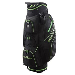Caddymatic Golf Deluxe 14-Way Cart Bag Black/Green