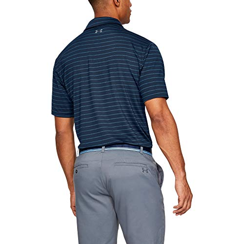 Under Armour Men's Playoff 2.0 Golf Polo , Academy Blue (409)/Pitch Gray , 3X-Large