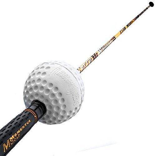 Momentus Men's Speed Whoosh Golf Swing Trainer with Training Grip, Right Hand