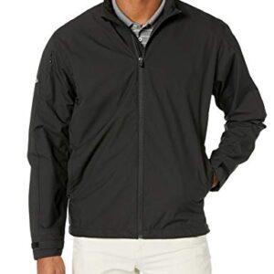 Callaway Men's Long Sleeve Opti-Repel Full-Zip Wind Jacket Black