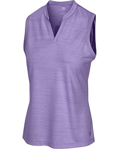 Three Sixty Six Women's Sleeveless Collarless Golf Shirt – Quick Dry Fabric, Lightweight Compression Golf Polo Purple
