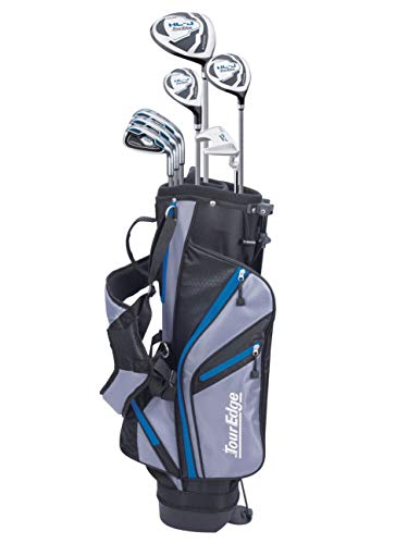 Tour Edge HL-J Junior Complete Golf Set with Bag (Right Hand, Graphite, 1 Putter, 3 Irons, 1 Hybrid, 1 Fairway, 1 Driver 11-14 YRS) Royal Blue
