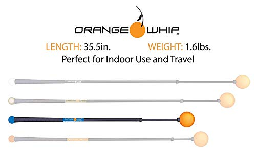 Orange Whip Compact Golf Swing Trainer Aid for Improved Rhythm, Flexibility, Balance, Tempo, and Strength – 35.5""