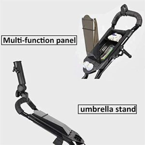 MEEY Golf Trolley Golf Push Carts Golf Cart, 4 Wheel Golf Cart Swivel Foldable Push Pull Hand Cart with Hand Brake and Umbrella Stand for Outdoor Travel Home Sport Exercising