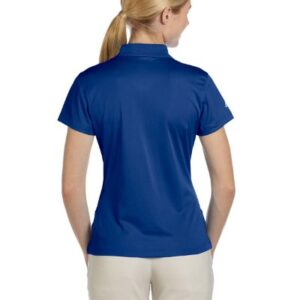 adidas Golf Ladies ClimaLite Pique Short-Sleeve Polo – Collegiate Royal A131 M