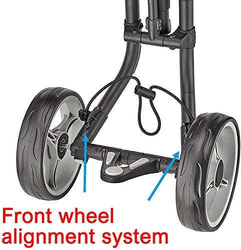 CaddyTek 4 Wheel Golf Push Cart – Compact, Lightweight, Close Folding Push Pull Caddy Cart Trolley – Explorer V8