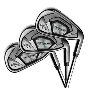 Callaway Golf 2018 Men's Rogue Irons Set (Set of 6 Total Clubs: 5-PW, Right Hand, Steel, Regular Flex)