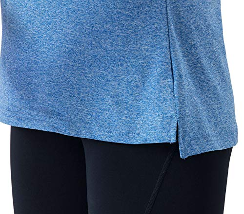 Rdruko Women's Long Sleeve Polo Golf Shirts Casual Sports T-Shirts with Thin Fleece(Dark Blue, US M)