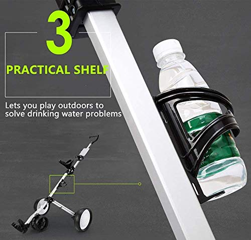 ZXL 4 Wheel Golf Cart Push Pull, Folding Golf Pull Trolley with Drink Holder, Compact Pull Caddy Cart, Easy to Open