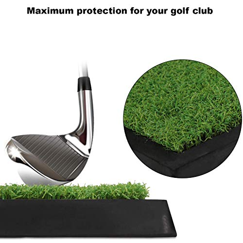 Indoor Golf Swing Trainer – Golf Swing simulator for Indoors and Outdoors (Home, Office, Man Cave) – Golf Training Aid with Green Mat and 2 Golf Balls – Golf Practice Equipment – Portable Golf Kit