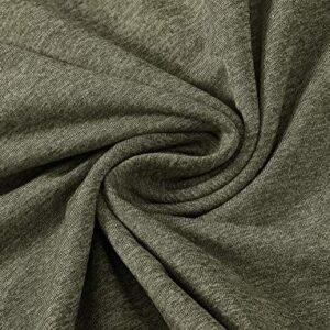 MoFiz Men's Golf Shirts Long Sleeve Shirts Sports Polo Shirts Athletic Jersey Shirts Zipper Shirts Army Green Size S