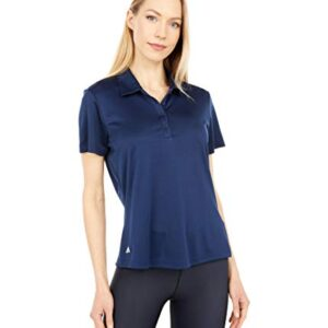 adidas Golf Women's Performance Primegreen Polo Shirt, Collegiate Navy, Small