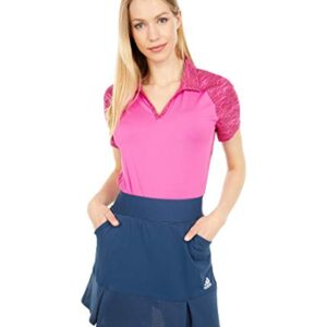 adidas Golf Women's Ultimate365 Primegreen Polo Shirt, Screaming Pink, Large
