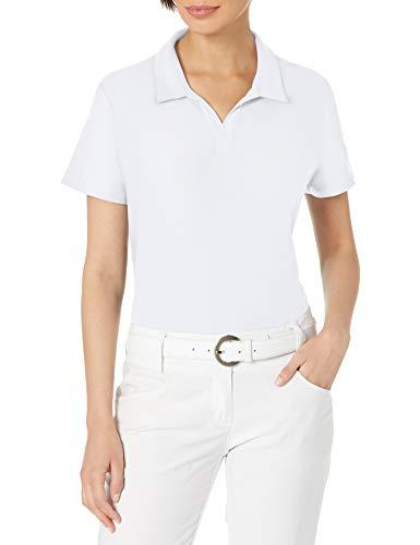 adidas Golf Women's Go-to Primegreen Polo Shirt, White, Extra Large
