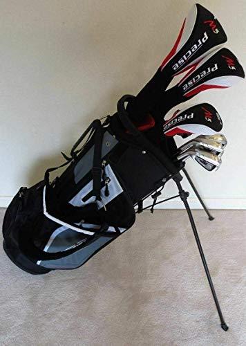 Mens Left Handed Golf Set Complete Driver, Fairway Wood, Hybrid, Irons, Putter Clubs & Stand Bag Regular Flex LH