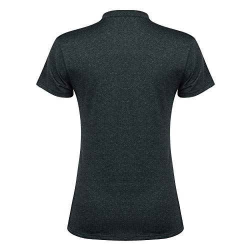 Women Tennis Shirts V-Neck,Golf Top for Women Short Sleeves Tennis Tee for Sports(Black,M)