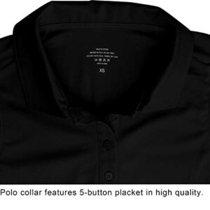 CQC Women's Golf Tennis Sleeveless Polo Shirts Quick Dry Athletic Tank Tops UPF 50+ Black M