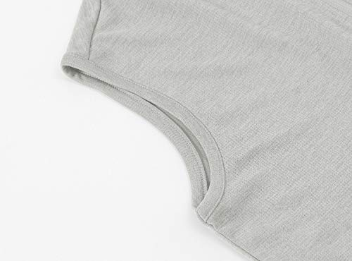 TBMPOY Women's UPF 50+ Golf Polo Shirts Sleeveless Zip Up Athletic Tank Tops Quick Dry Light Grey L