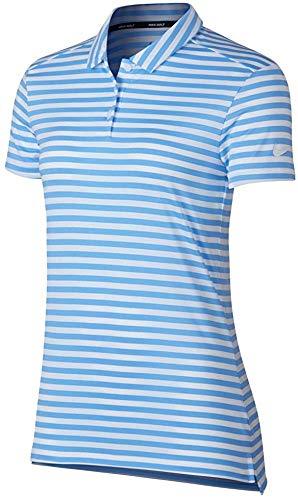 Nike Dri Fit Shortsleeves Stripe Golf Polo 2018 Women University Blue/White/White XX-Large