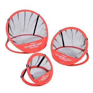 GoSports CHIPSTER Range – 3 Piece Golf Chipping Practice Net Target System with Carrying Case, Red