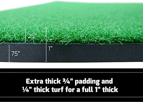 Dermal-Tech Golf Practice Net, 10 x 7ft Golf Hitting Net with Chipping Target Pockets,Golf Training Aids Practice Net Set – 4 in 1