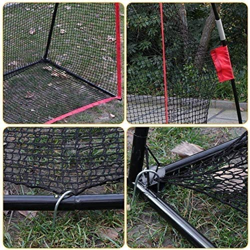 Golf Net 10x7ft Portable Golf Practice Net w/Carry Bag for Indoor Outdoor Backyard Driving Hitting Chipping Training Net