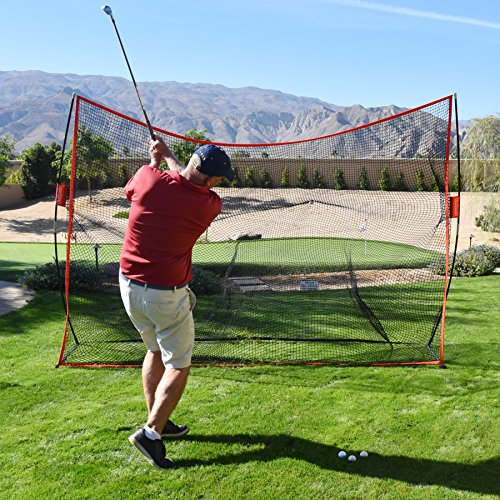 GoSports Golf Practice Hitting Net | Huge 10′ x 7′ Personal Driving Range For Indoor or Outdoor Use | Designed By Golfers for Golfers