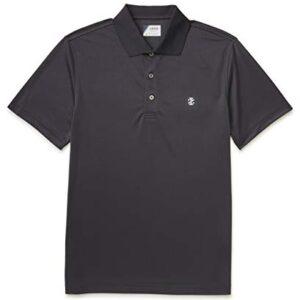 IZOD Men's Performance Golf Grid Polo, Black, X-Large