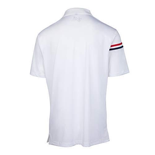 DriFit Mens Solid Bold Golf Shirts, Solid Color Golf T-Shirt for Mens -6965(White, Medium)
