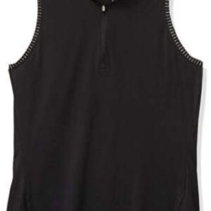 adidas Golf Ultimate365 Space Dye Sleeveless Polo Shirt, Black, X-Large