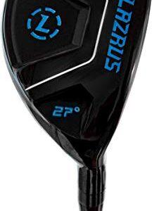 LAZRUS GOLF Premium Hybrid Golf Clubs for Men – 2,3,4,5,6,7,8,9,PW Right Hand & Left Hand Single Club, Graphite Shafts, Regular Flex (Black, 6, RH, Single)