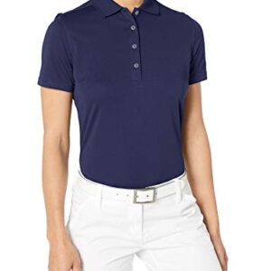 Callaway Women's Golf Short Sleeve Core Performance Polo Shirt, Peacoat, Small