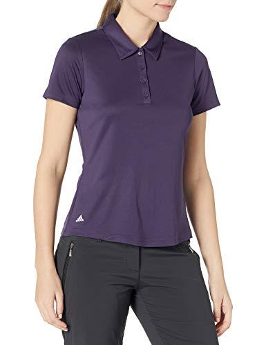adidas Golf Women's Performance Primegreen Polo Shirt, Purple, Extra Large