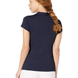 PGA TOUR Women's Airflux Short Sleeve Golf Polo Shirt, Peacoat, XX Large