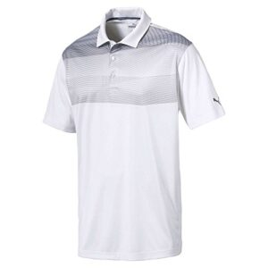 Puma Golf Men's 2018 PWR Cool Refraction Polo, Large, Quiet Shade