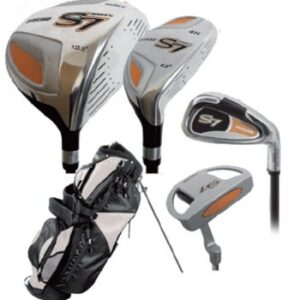 High Class Men's Right Handed Complete Golf Club Set, Includes: 460cc Driver, #3, 5 Wood, 24 Hybrid Wood, #5, 6, 7, 8, 9 Stainless Steel Irons, PW, Sand Wedge. All Irons with True Temper Steel Shafts, Putter, Deluxe Stand Bag & 4 Bonus Head Covers