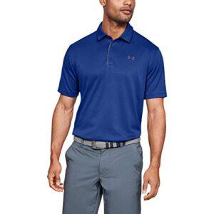 Under Armour Men's Tech Golf Polo , Royal (400)/Graphite, Medium