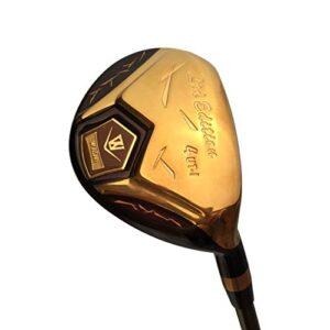 Japan WaZaki 4-SW USGA R A Rules Hybrid Irons Golf Club Set,14K Gold Finish,Mens Regular Flex,65g Graphite Tit Shaft,Plus Half Inch Length,Limited Edition,with Covers,Pack of 16