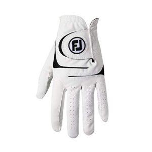 FootJoy Men's WeatherSof 2-Pack Golf Glove White Cadet Small, Worn on Left Hand
