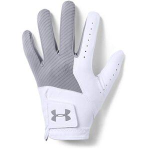Under Armour Men's Medal Golf Gloves , Steel (035)/Steel , Left Hand Small