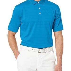 Callaway Men's Basic Short Sleeve Opti-Vent Open Mesh Polo Golf Shirt, Medium Blue, Large